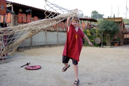 Gladiator combat lessons in Rome