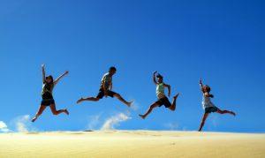 jumping 4 beach
