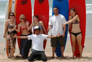 Morocco Surf - Surfing board standing