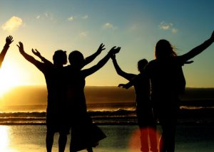 is-people-beach-sunset