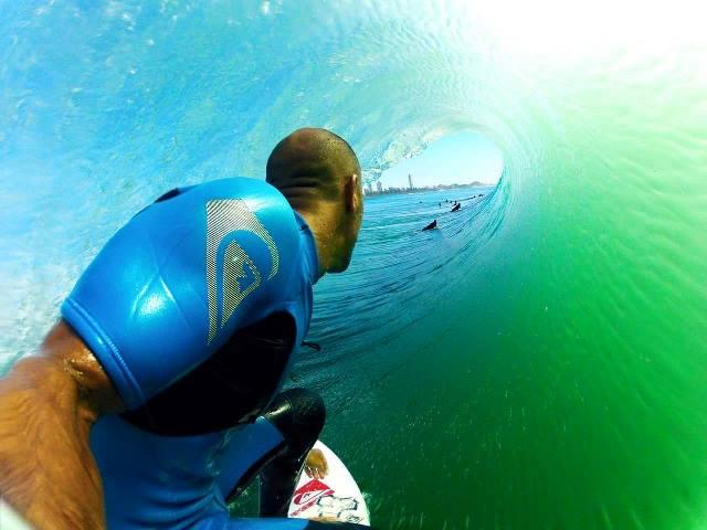 Kelly Slater surfing on holiday in Fuerteventura