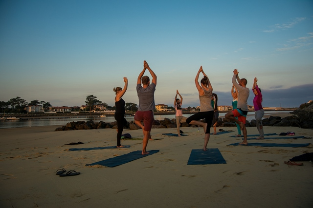 yoga on holiday in Portugal