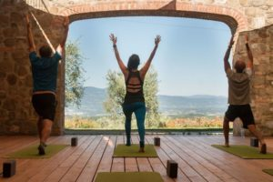yoga with a view of Tuscany
