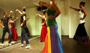 "Spain-Andalucia-Malaga- class of ""Flamenco"" dance at Nerja."