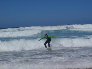 Surf holiday in Sagres, Portugal - standing