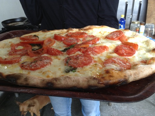 Pizza making in Sorrento - Cynthia's first pizza of the week