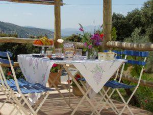 Tapas cooking course Spain - al fresco dining