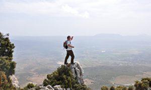 Shredded: man hiking in Andalucia