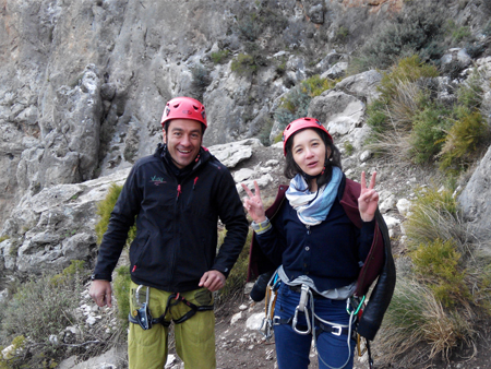 Spanish and rock climbing