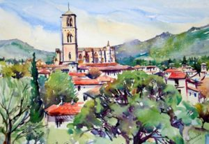 Painting Holiday in France - painting