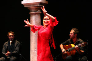 Flamenco dancer in Seville on holiday