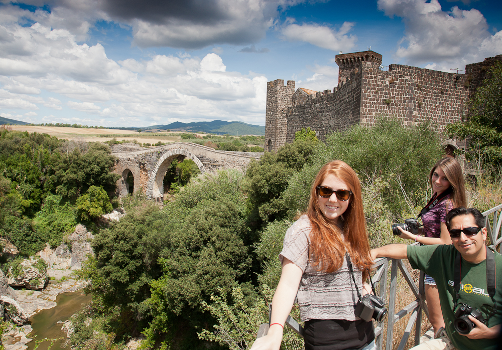 photography holiday guests snapping the scenery in Italy