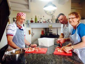 Bill in Cooking School