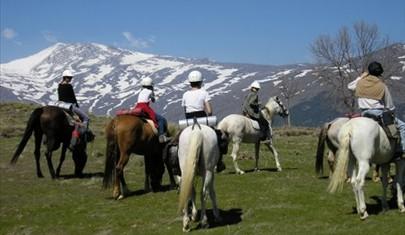 horse riding spain