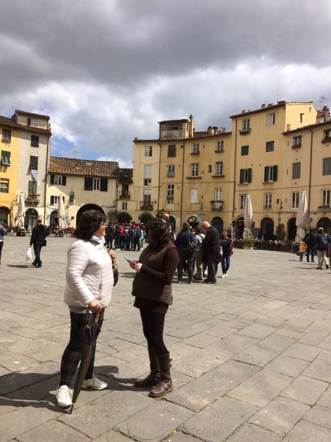 visiting Lucca during cooking and wine holiday in Tuscany