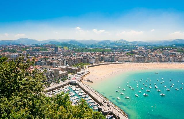 San Sebastian Spain coastline