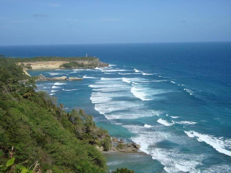 Dominican Republic coastline view from above