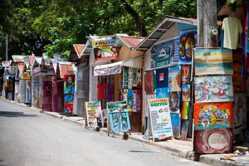 Sosua, Dominican Republic street with shacks