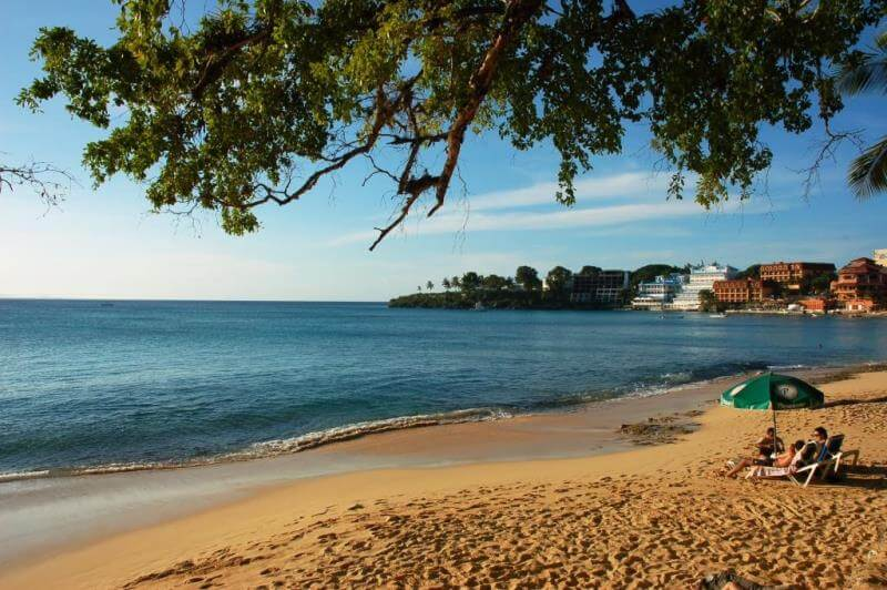 Beach scene in Dominican Republic