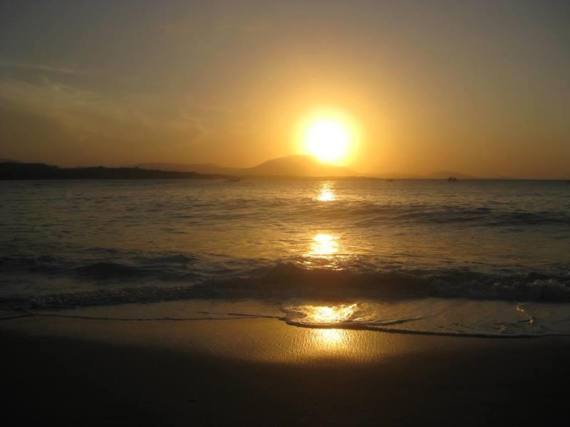 Sunset over Dominican Republic beach