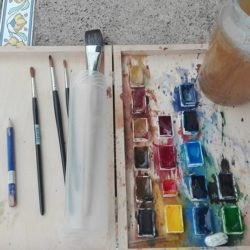Painting kit for holiday in Andalucia
