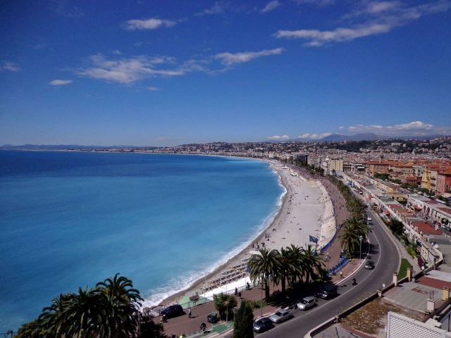 Cote d'Azur beach on cooking holiday