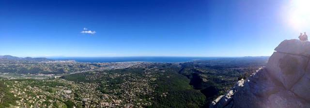 panoramic over Cote d'Azur from activity holiday house in France