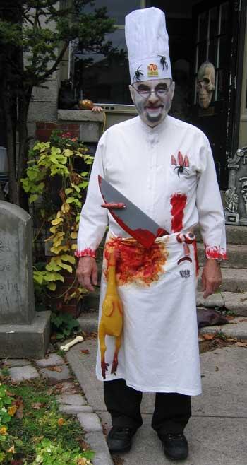 Zombie chef last minute Halloween costume