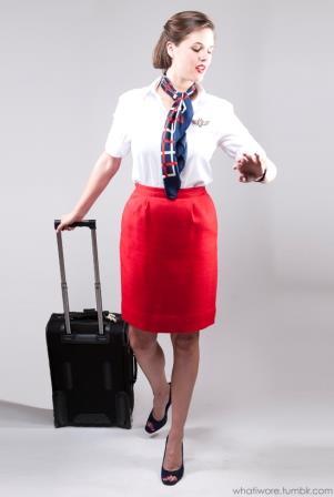 Flight attendant last minute Halloween costume