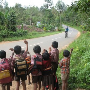 Cycling Backwater with Kids Cheering
