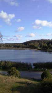 view of lake near Swedish home in Sweden
