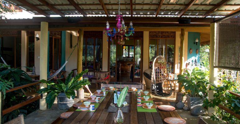 eating area in homestay in sri lanka