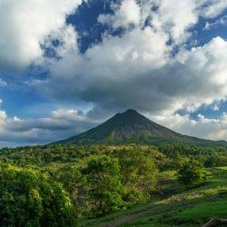 volcano cloud sky
