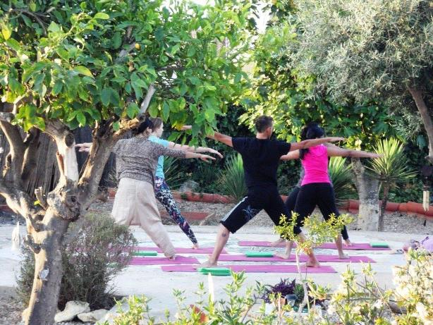Yoga sessions in the garden