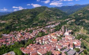 Landscape image of town of Barga in Tuscany