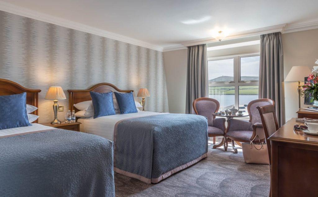 double bedroom in Dingle hotel