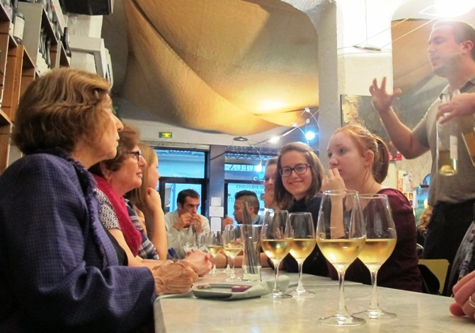 over 50s group wine tasting in Nice bar
