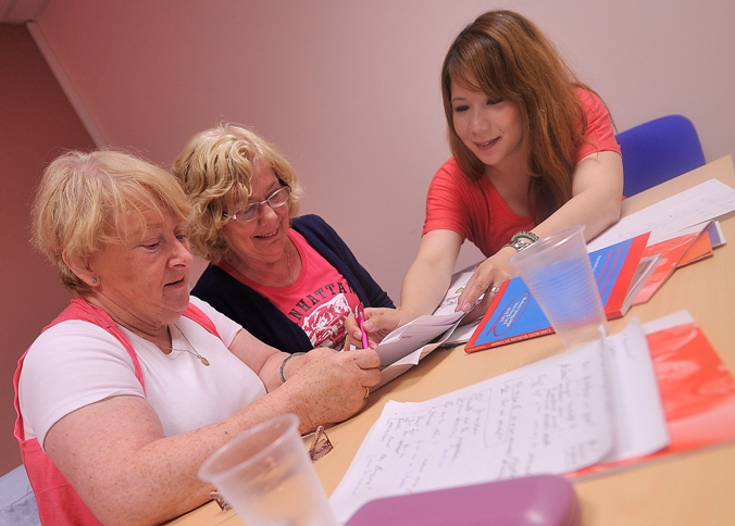 over 50s student study french with teacher