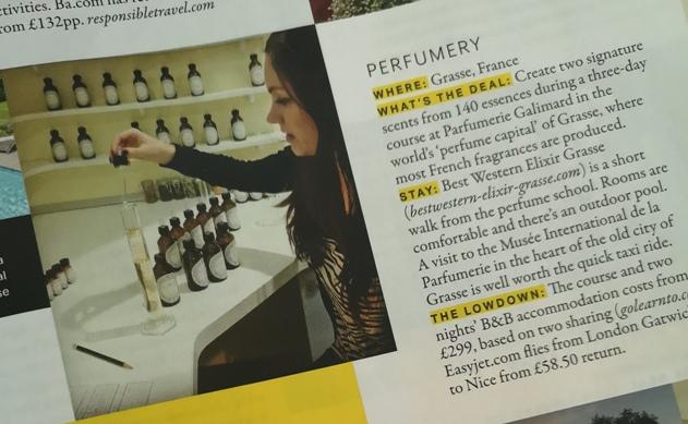 Grazia magazine snippet on perfumery