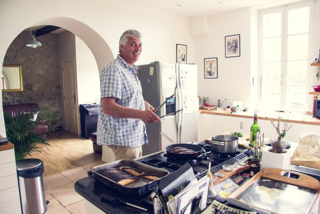 Cook Adam in the kitchen in France