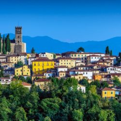 town of Barga in the hills of Tuscany
