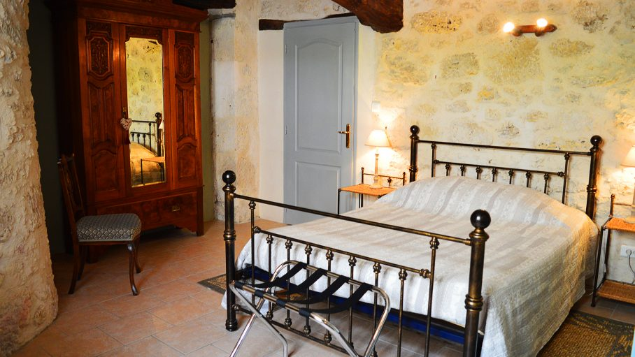 lovely French country style bedroom on cooking holiday