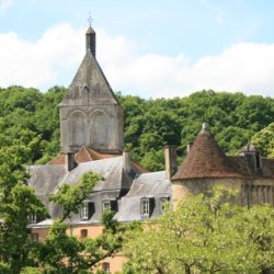 old French buildings in the Creuse