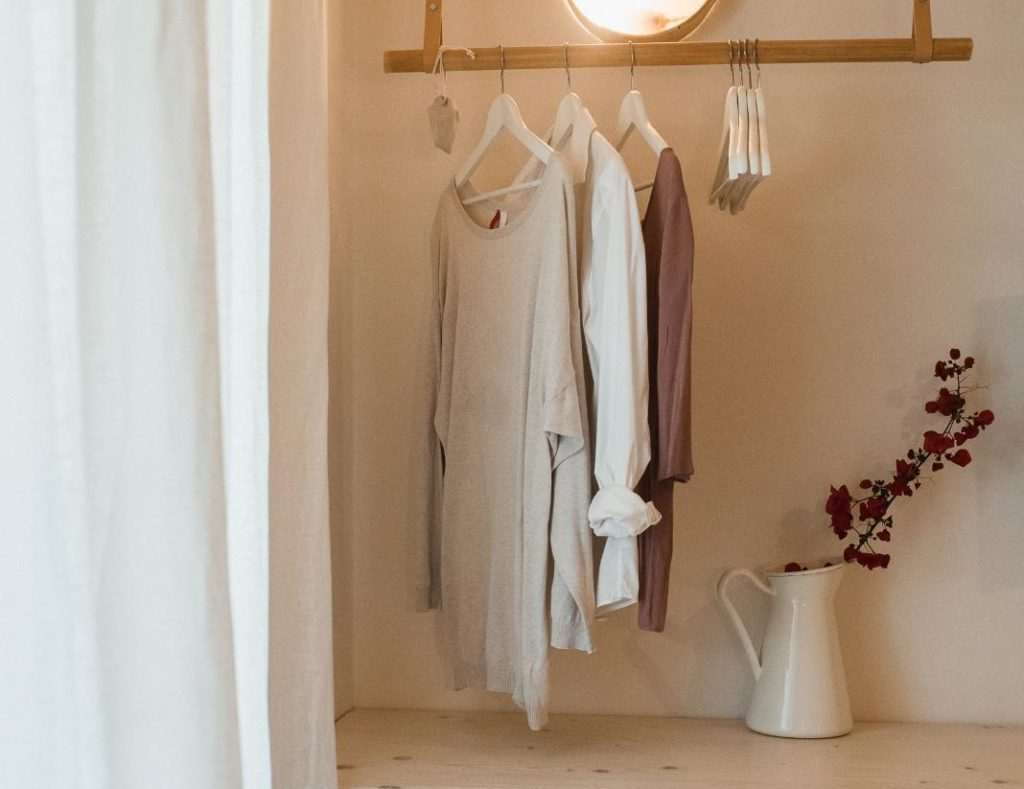 hanging garments