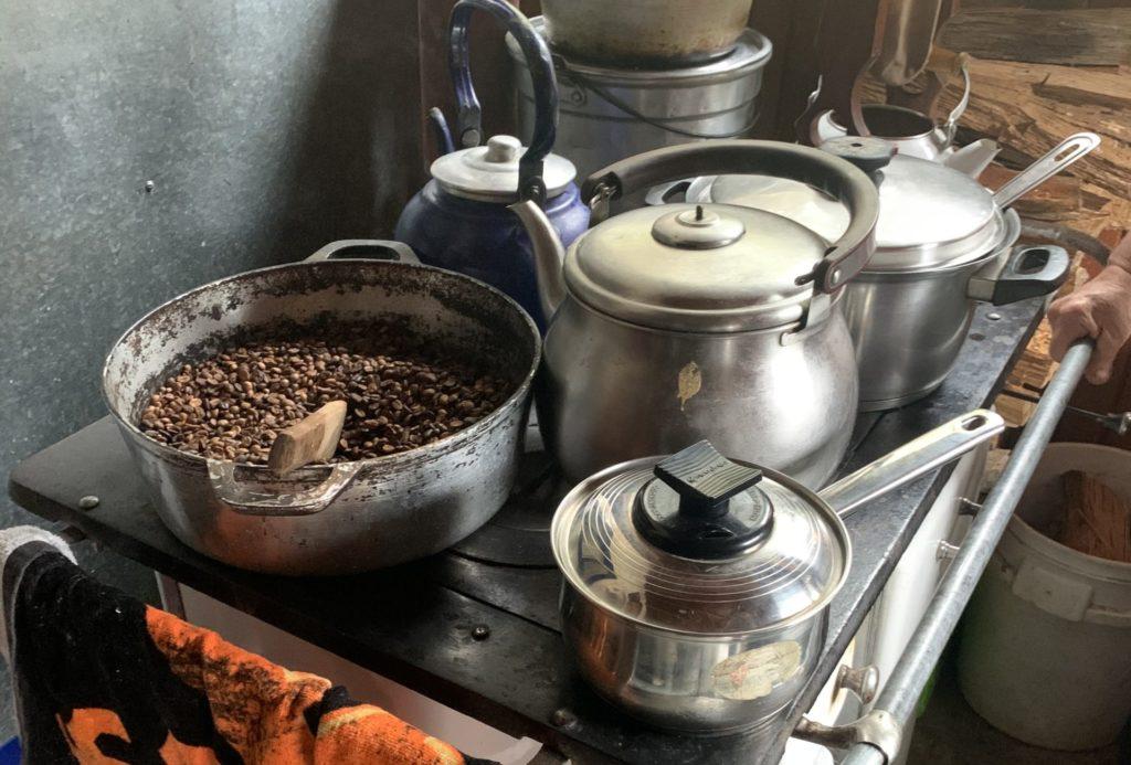 San Gerardo de Dota, Costa Rica -traditional coffee roasting