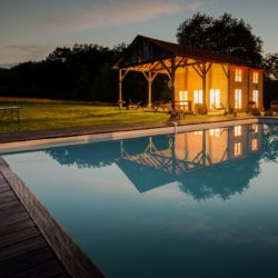 old renovated barn with swimming pool in France
