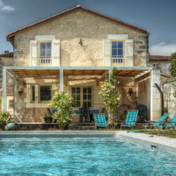 French house with swimming pool