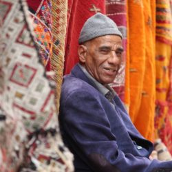 Local man in market in Morocco