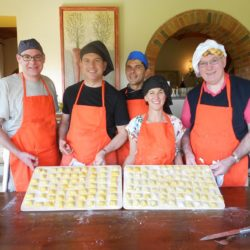 cookery guests show off their fresh pasta results