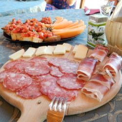 cheese and cut meats for aperitivo